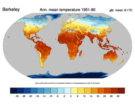 earth temperature map global surface temperatures best berkeley earth surface