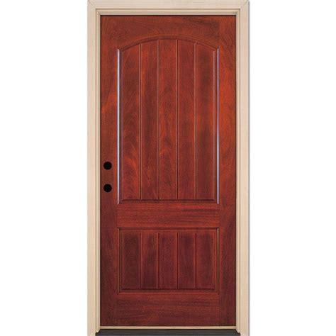 cherry doors feather river doors 37 5 in x 81 625 in 2 panel plank