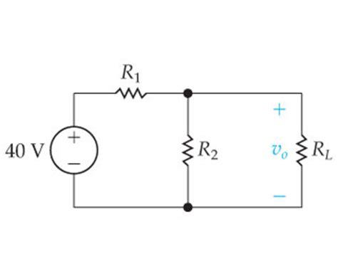 load resistor voltage divider the no load voltage in the voltage divider circuit chegg