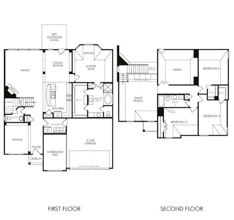 meritage homes floor plans houston house design plans