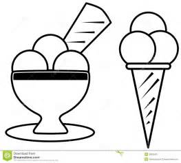 Set Of Ice Cream In A Cartoon Version This Project Is Thought To Be  sketch template