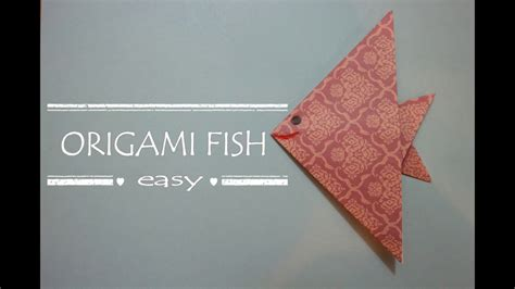 tutorial origami fish origami fish easy how to make an origami fish easy
