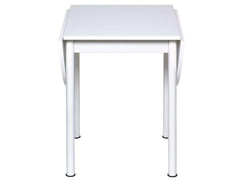 table avec allonges rabattables flipp coloris blanc
