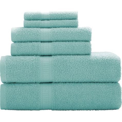 Bath Towel mainstays 6 cotton towel collection bath towel