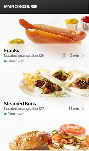 order food from your seat app how smartphones will change the experience of