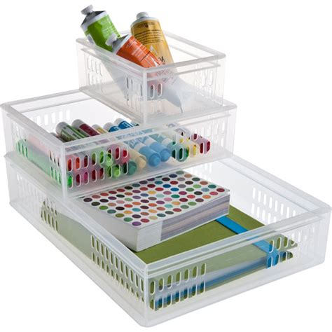 Container Store Desk Organizer Stacking Organizer Trays The Container Store