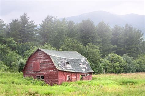 rustic landscape barn barn and mountains