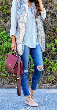 A C C E P T Flatshoes Beige 1000 ideas about fur vests on fur fox fur