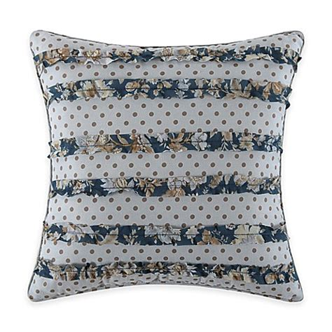 blue throw pillows for bed salisbury square throw pillow in blue bed bath beyond
