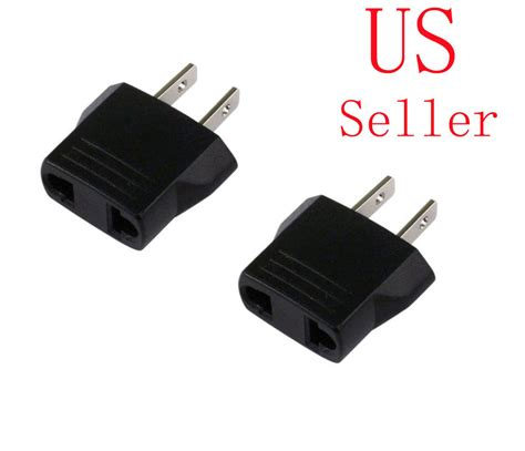 Adaptor Serbaguna 2 Ere 220 V 2 x 220v to 110v travel flat charger adapter convert ebay