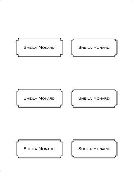 openoffice place card template 10 best images of place card template printable