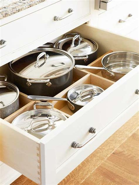 Kitchen Pot Drawers by Kitchen Cabinets That Store More Custom Cabinets