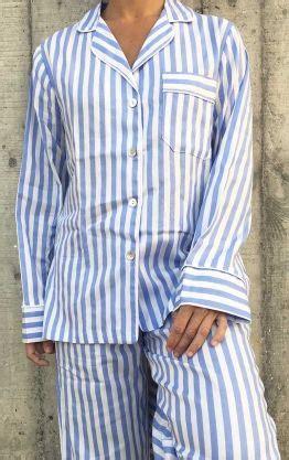 pijama mujer rayas blancas  azules pijamas en