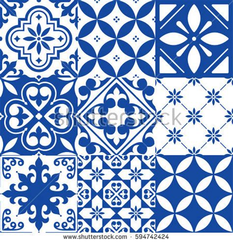 tiles pattern vector spanish tile vector stock images royalty free images