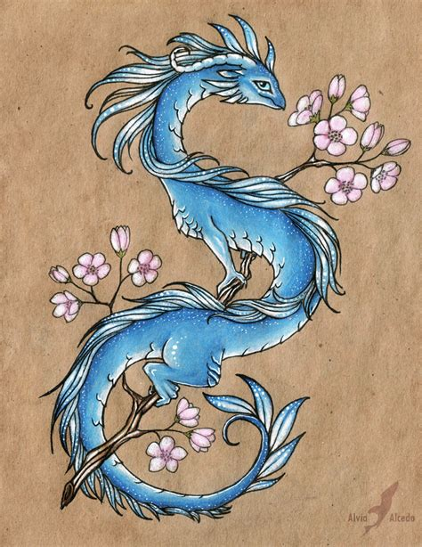 blue dragon tattoo designs blue design by alviaalcedo on deviantart