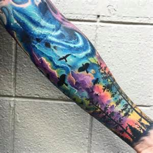 50 truly artistic watercolor sleeve tattoos tattoomagz