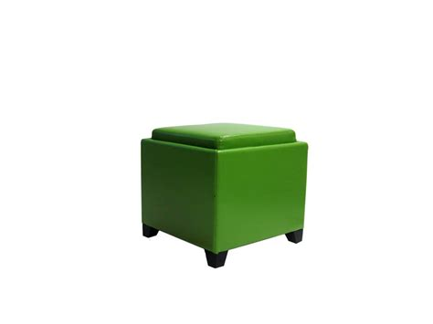green ottoman storage contemporary storage ottoman with tray green