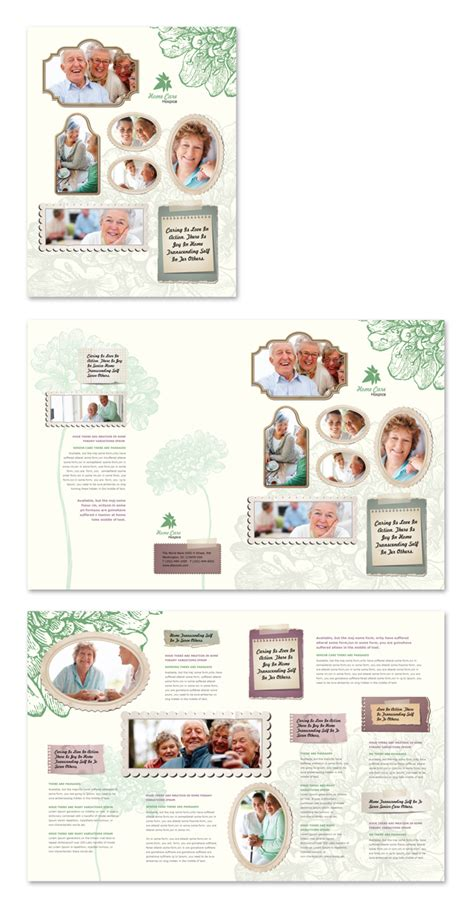 home health care brochure templates home care brochure template