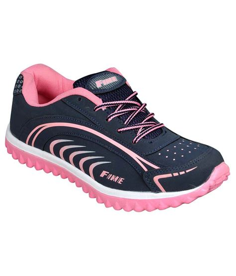 delux look navy blue and pink sports shoes price in india