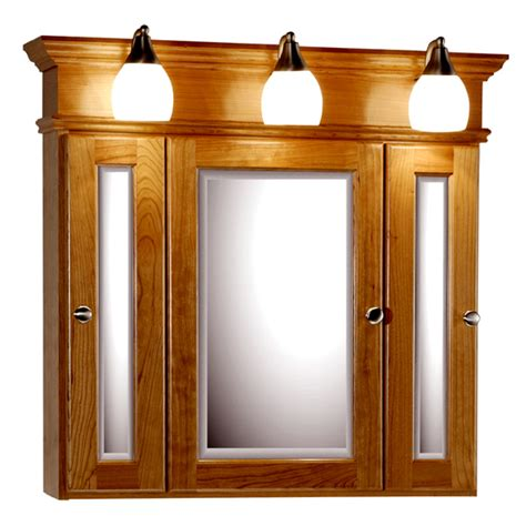 Medicine Cabinet Lighting by Strasser Woodenworks 30 Inch Rounded Profile Tri View
