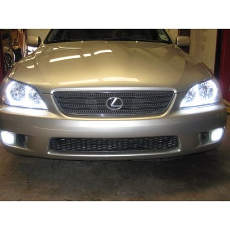 lexus is300 lights lexus is300 white led halo fog light kit 2001 2005