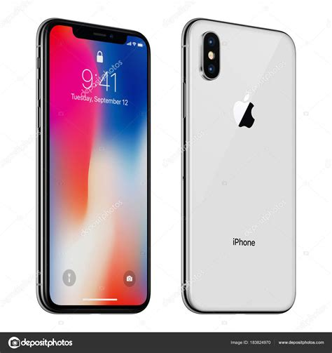 blanc tourn 233 apple iphone x avec ios 11 lockscreen avant et arri 232 re isol 233 sur fond
