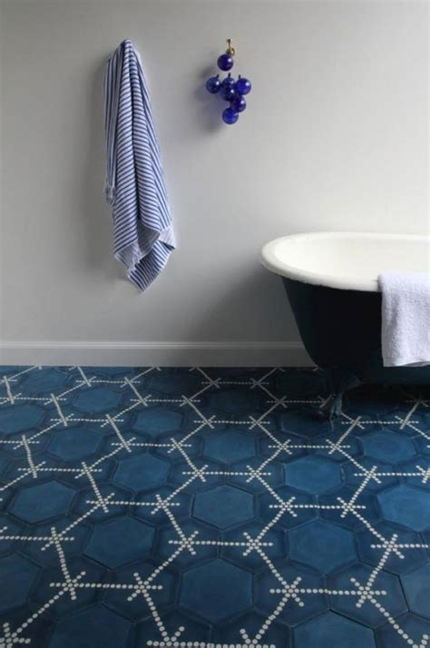 blue tile bathroom floor 37 navy blue bathroom floor tiles ideas and pictures