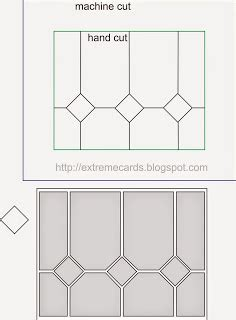chagne glass card template stained glass window card