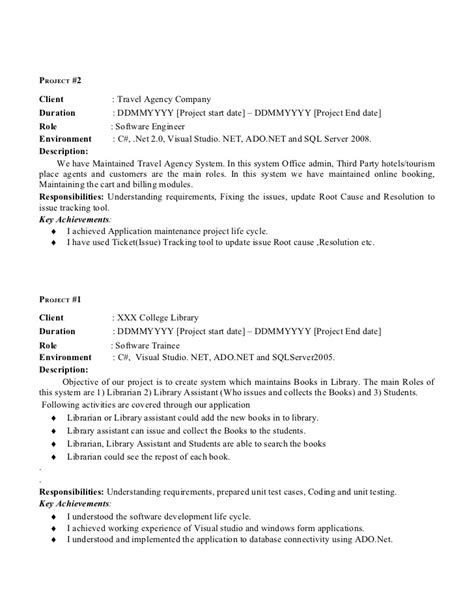 sle resume java developer 2 years experience resume