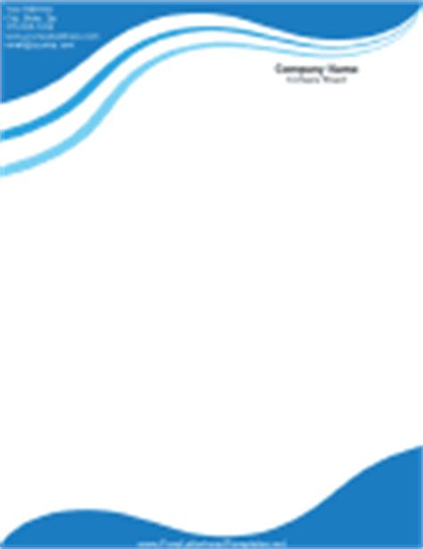plantilla business letterhead with blue waves business letterhead