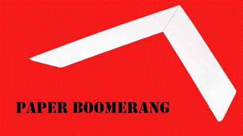 Make A Paper Boomerang - how to make a easy paper boomerang that comes back to you