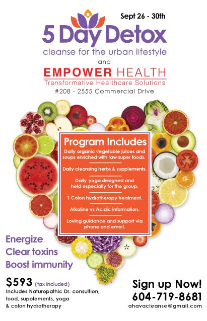 5 Day Detox Program by 5 Day Detox Empower Health Empower Health