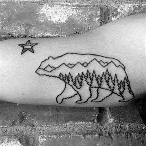 bear outline tattoo 80 california designs for grizzly ink ideas