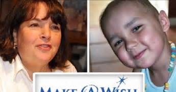 ina garten make a wish foodie gossip the barefoot contessa rejects dying child s