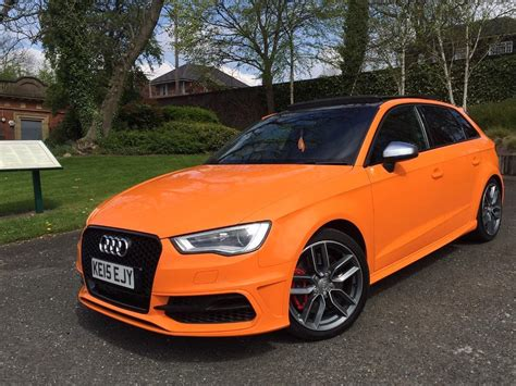 orange audi s3 audi s3 dsg sportback glut orange miltex stage 2 every