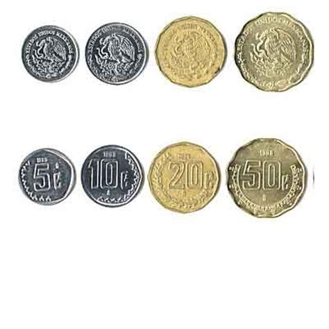 currency mxn mexican pesos coins