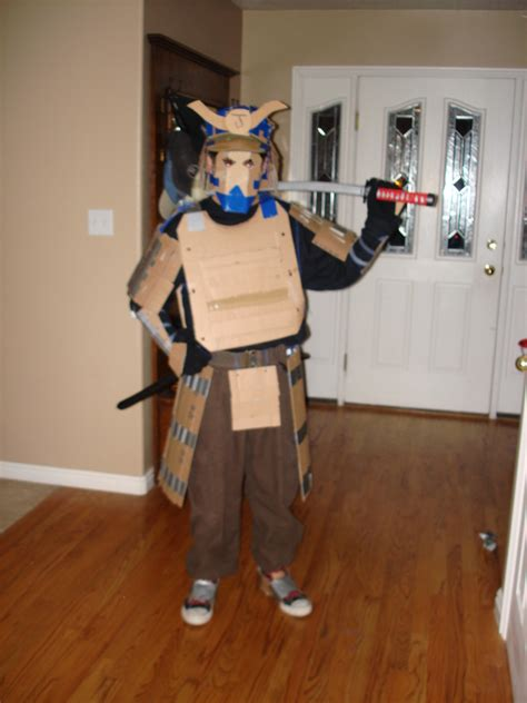 How To Make A Samurai Helmet Out Of Paper - cardboard samurai armor by thedancingraikage on deviantart