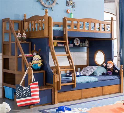 webetop nautical style kids composite bed bedroom furniture set kid bunk bed solid wood