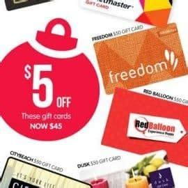 Big 5 Gift Cards - expired 10 off various 50 gift cards at big w until christmas eve gift cards on sale