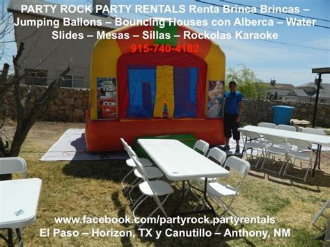 tables and chairs for rent in el paso tx rockolas karaoke jumping ballons with pools water slides