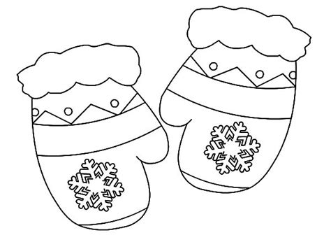 mitten coloring page mittens coloring page home sketch coloring page