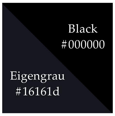 black is the absence of color eigengrau
