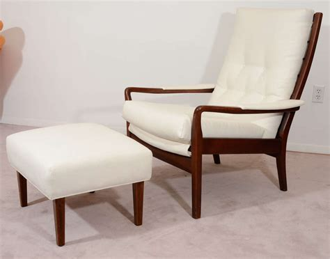 chair with matching ottoman mid century modern lounge chair and matching ottoman at