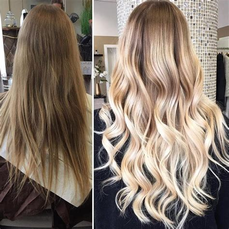 balayage to blend grey balayage highlights and extensions by melina best friseur