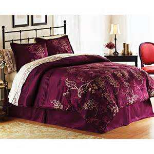 Plum Colored Comforters Better Homes And Gardens Bedding Set Walmart Com