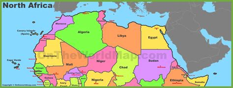northern africa map map of africa