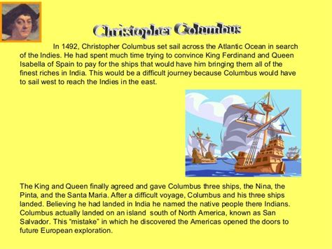 christopher columbus biography ppt explorers powerpoint 2