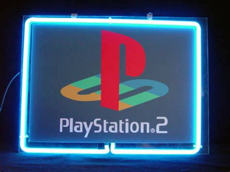 playstation light up sign sony playstation 2 ps2 neon light sign 10 x 8 neon