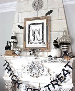 Elegant Halloween Home Decor The Decorated House Halloween Mantel Elegant And