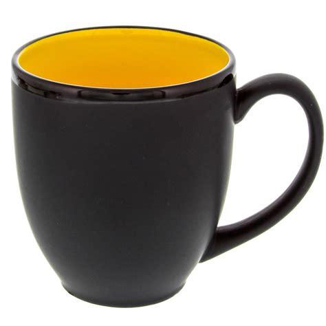 mug design inside hilo bistro coffee mug ceramic yellow matte black cafe